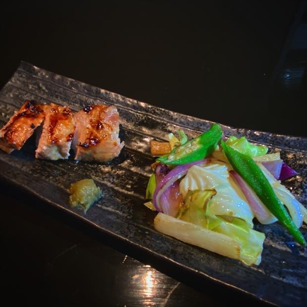 季節野菜と国産豚ソテー_R