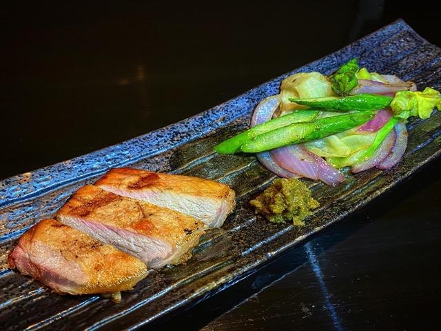 国産豚と季節野菜のソテーアスパラ版880円_R